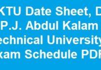 AKTU Date Sheet