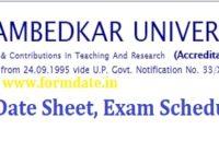Agra University Date Sheet