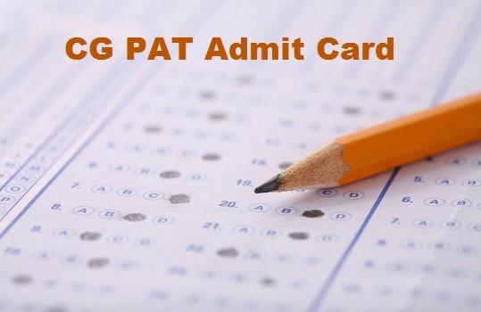 CG PAT Admit Card