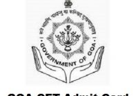 GOA CET Admit Card