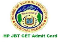 HP JBT CET Admit Card