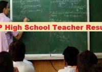 MP High School Teacher Result