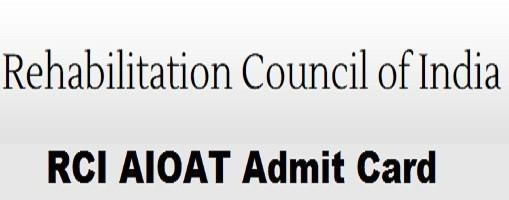 RCI AIOAT Admit Card