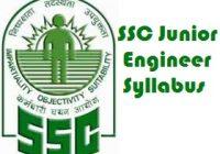 SSC Junior Engineer Syllabus