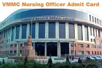 VMMC Nursing Officer Admit Card