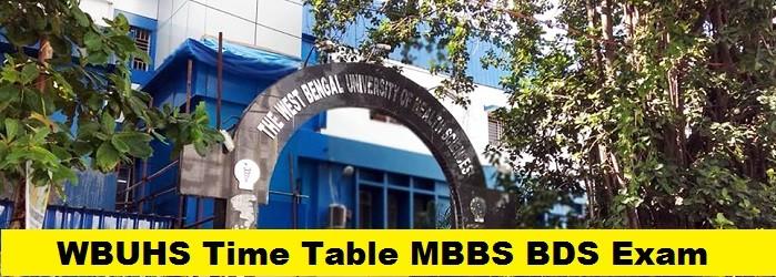 WBUHS Time Table