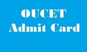 OUCET Admit Card