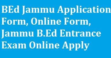 BEd Jammu Application Form