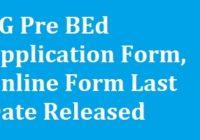 CG Pre BEd Application Form