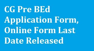CG Pre BEd Application Form