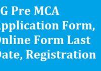 CG Pre MCA Application Form