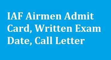 IAF Airmen Admit Card