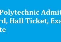 JK Polytechnic Admit Card