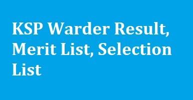 KSP Warder Result
