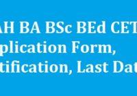 MAH BA BSc BEd CET Application Form