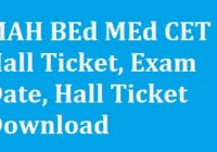 MAH BEd MEd CET Hall Ticket