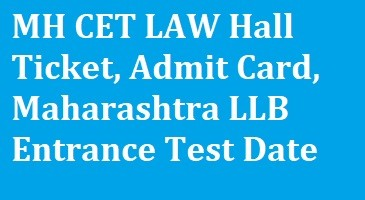 MH CET LAW Hall Ticket