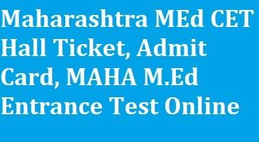 Maharashtra MEd CET Hall Ticket