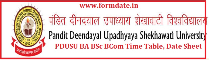 PDUSU BA BSc BCom Time Table