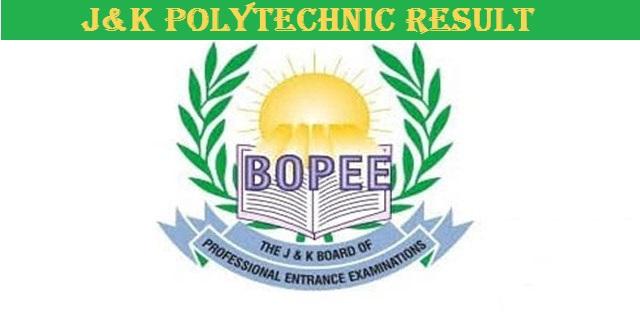 J&K Polytechnic Result