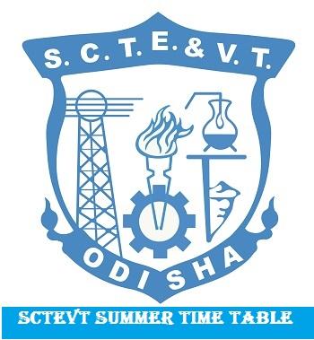 SCTEVT Summer Time Table