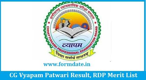 CG Vyapam Patwari Result