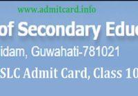 SEBA HSLC Admit Card