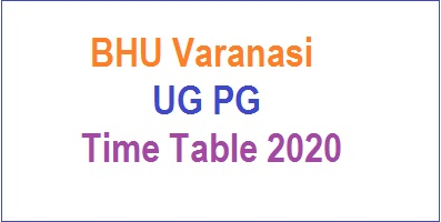 BHU Varanasi UG PG Time Table
