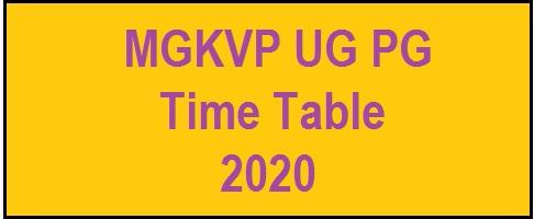 MGKVP UG PG Time Table