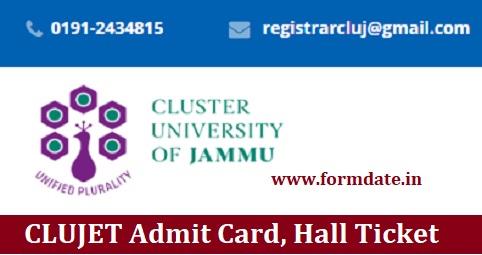 CLUJET Admit Card