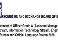 SEBI Officer Grade A Recruitment