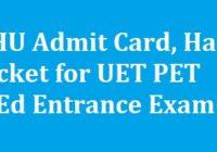 BHU Admit Card