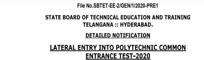 TS LPCET Application Form