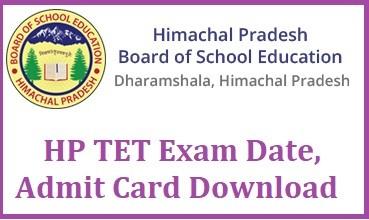 HP TET Exam Date