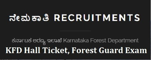 Karnataka Forest Guard KFD Hall Ticket