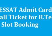 PESSAT Admit Card