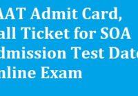 SAAT Admit Card
