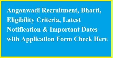 Anganwadi Recruitment