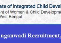 West Bengal Anganwadi Recruitment