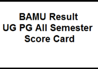 BAMU Result