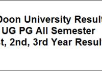 Doon University Result