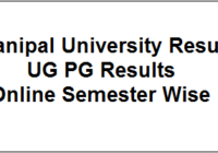Manipal University Result