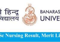 BHU BSc Nursing Result