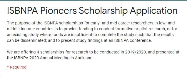 LMIC Scholarship Application Form
