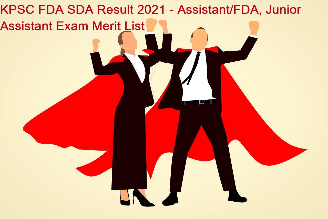 KPSC FDA SDA Result