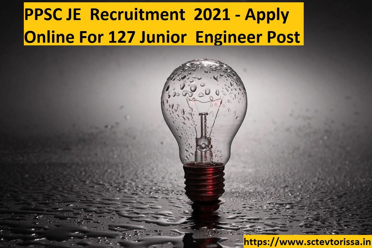 PPSC JE Recruitment