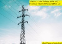 TANGEDCO Field Assistant Result
