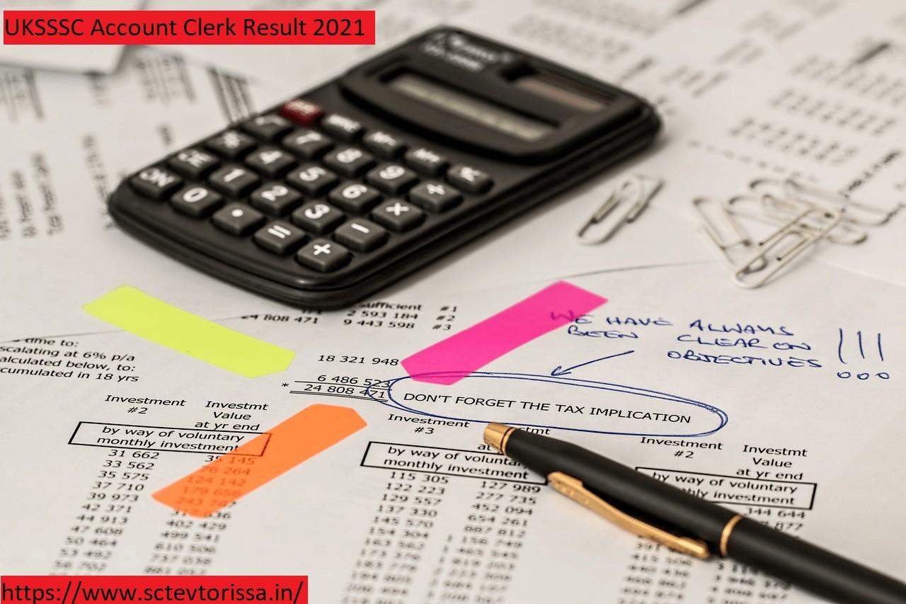 UKSSSC Account Clerk result