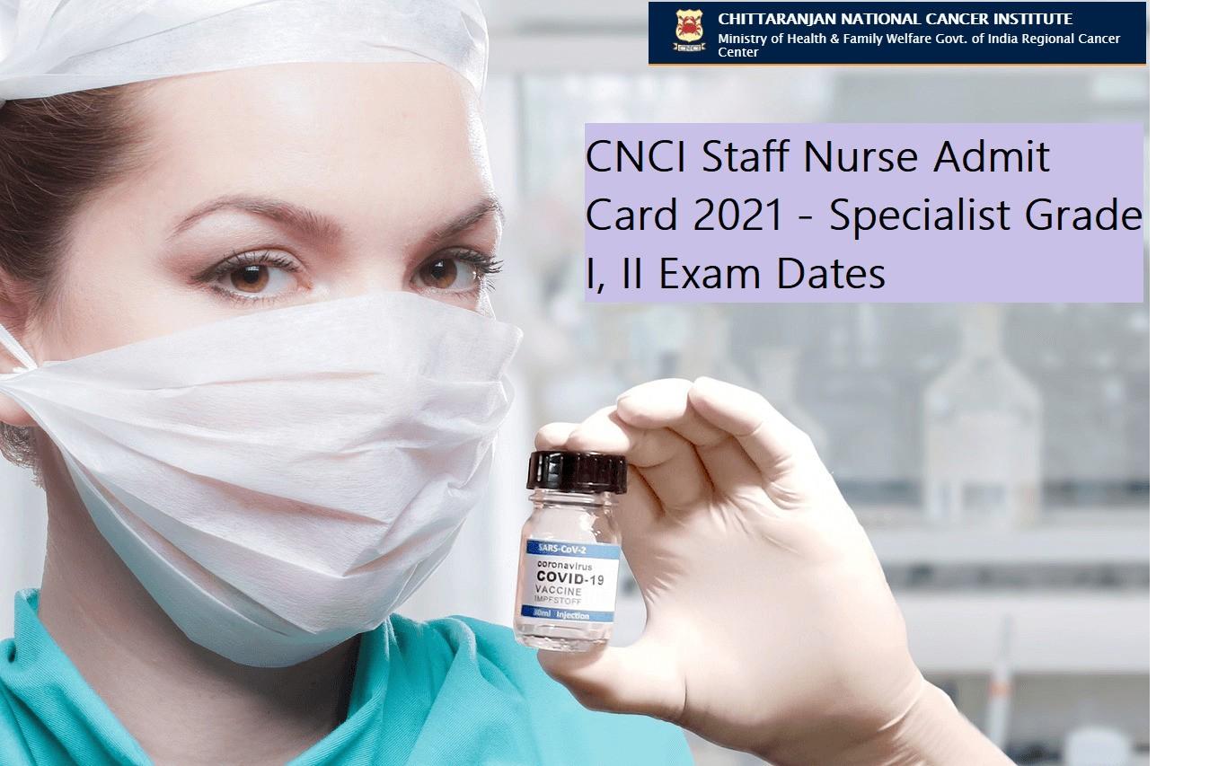 CNCI Staff Nurse Admit Card