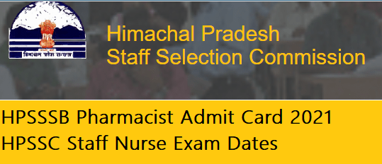 HPSSSB Pharmacist Admit Card